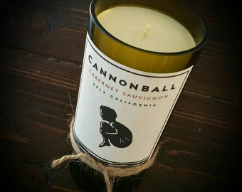 Cannonball wine candle