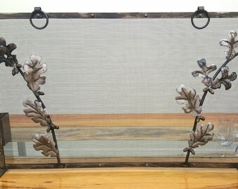 Oak Leaf and Acorn Fireplace Screen
