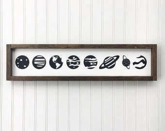 Planet Decor Etsy - Hanging solar system for kids room