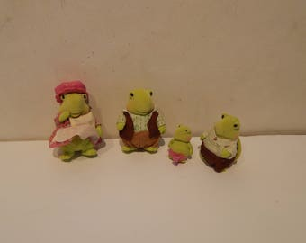 Woodzeez Tidy Shine Turtle Family Lot of 4