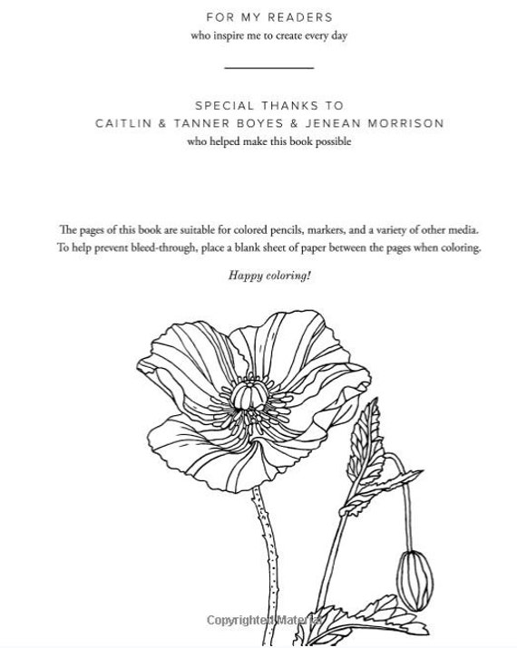 Flowers Coloring Book Botanical Patterns And Charts For Beautiful Color Play