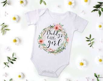 Daddy's Little Girl, Daddy's Girl Outfit, Father's Day Outfit , Baby Girl Outfit, Baby Girl Onesie, Baby Girl Bodysuit, Baby Girl Top
