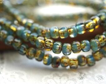 Aqua Green, Trica Beads, Czech Beads, Beads, N2264