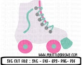 Roller blade SVG, DXF, EPS, png Files for Cutting Machines Cameo or Cricut - rollerblade svg - roller derby svg - skating party svg