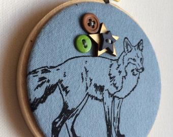 4 inch Fox hoop with buttons