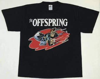 Vintage 90s The Offspring Band tour shirt