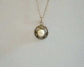 1/20 14K Gold Filled Chain Pearl Pendant Necklace