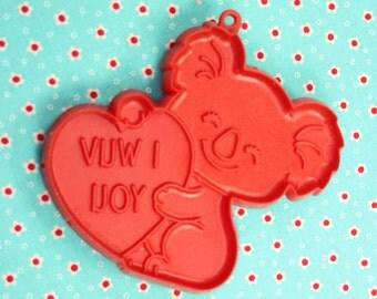Koala Bear With Heart Hallmark Valentine 1981 Cookie Cutter