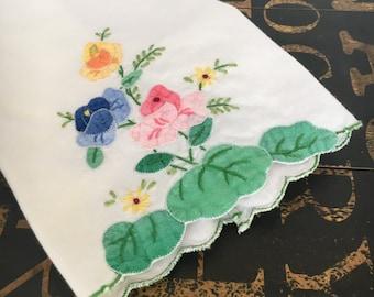 Lovely Appliqué Tea Towel / Hand Towel