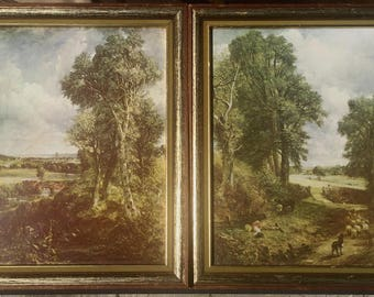 Framed Giclee Prints on Board by John Constable (British, 1776 - 1837) The Cornfield and The Vale of Dedham Wall Art for the Home