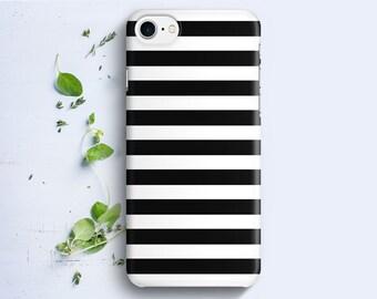 iPhone Case - Black Stripes Lines - iPhone 4/4s iPhone 5 iPhone 5c iPhone 5s iPhone 6 iPhone 6 Plus iPhone 6s iPhone 6s iPhone SE iPhone 7