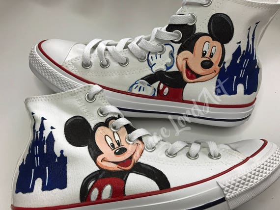 6000ab8ba27a 85%OFF Custom Painted Disney Inspired Themed Converse Hi Tops shoes ...