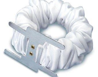 New floral supply, white wristlet, elastic wristlet, corsage wristlet, wrist corsage, prom wristlet , wedding wrist corsage, hand wristlet