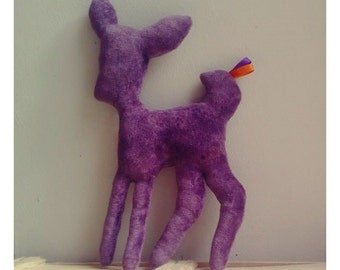 Decoration / deer velvet purple Doudou