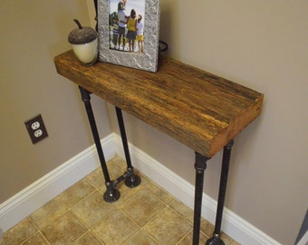 Perfect Barn Wood Foyer Table