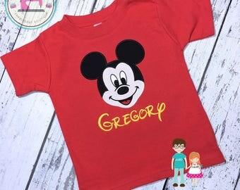 Mickey Mouse Shirt, Mickey Shirt, Disney Vacation Shirt, Mickey Birthday Shirt, Mouse Head Shirt, Mickey Mouse, Disney Shirt, Custom Mickey