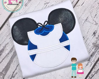 Alice in Wonderland Shirt, Alice Disney Princess Shirt, Minnie Alice Mouse Head Shirt, Embroidered Shirt, Personalized Girls Disney Shirt