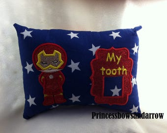 Iron Man Inspired tooth fairy pillow