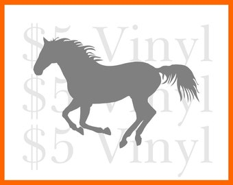 Dainty Filly Vinyl XS-SMALL Car Decal, Wall Art, Sticker, Window Decal, Pony, Horse, Gallop, Rodeo, Cowboy