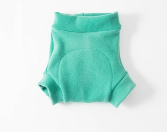 Felted Organic Merino Wool Shorties / Diaper Cover / Oeko-Tex Standard 100 Certified / Green Tones