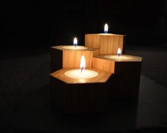 Hexagonal Candles Set of 4