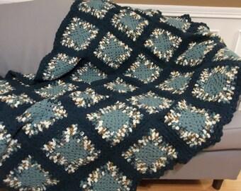"NEW, 52""X72"", Free Shipping(USA), Crochet throw blanket."