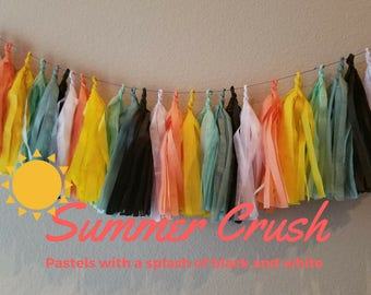 Summer Crush, Aztec, Pastels Tissue Tassel Garland