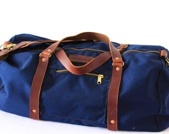 The Bond Blue Nylon Denier Duffle Bag// Weather Proof Duffle Bag// Travel// Gym Bag