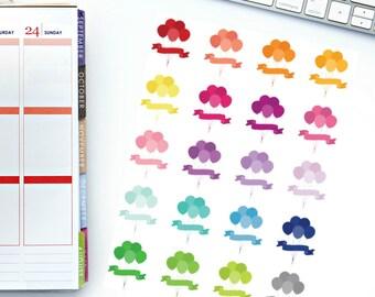 Birthday Balloons Planner Stickers! Perfect for your Erin Condren Life Planner, calendar, Paper Plum, Filofax!