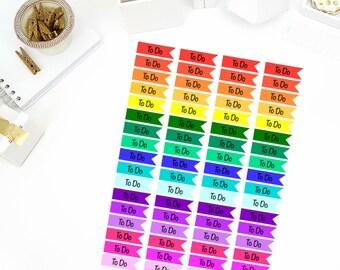 To Do Flag Stickers! Perfect for your Erin Condren Life Planner, calendar, Paper Plum, Filofax!