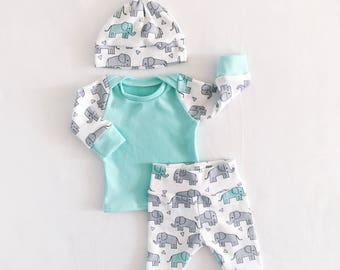 coming home outfit, baby take home outfit, newborn coming home outfit, baby boy outfit, newborn outfit, elephant outfit, preemie outfit