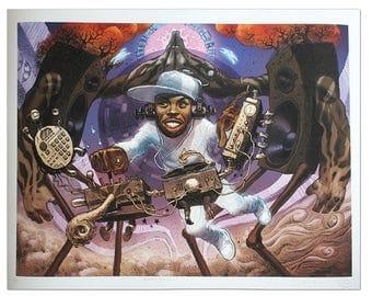 J DILLA - Limited Edition Giclee Print Dan Lish Ego Strip Hip Hop Series