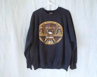 90s Harley Davidson Live The Legend Eagle Sweatshirt