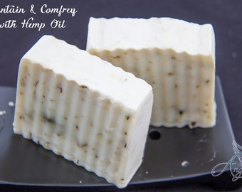 Hemp oil Soap with plantain and comfrey