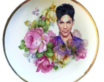 Vintage - Illustrated - Prince Plate - Wall Display - Altered Plate - Antique - Upcycled - Art