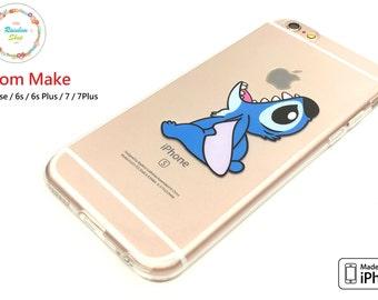 iPhone 5se / 6s / 6s Plus / 7 / 7 Plus Case, TPU case, Transparent, Clear, , Disney, Gift, Stitch Apple