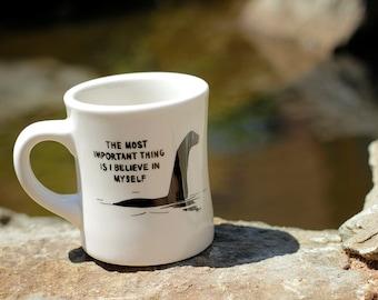 Loch Ness Monster: Imaginary Creatures - Ceramic Coffee Mug - Sturdy Vintage Diner Mug - Pop Culture Reference