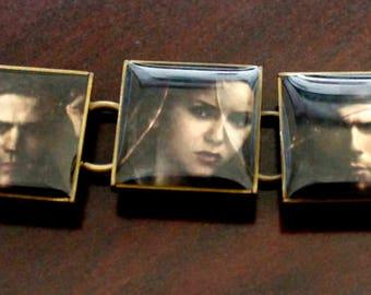 Custom Vampire Diaries Photo Bracelet (Choose your own photos!)
