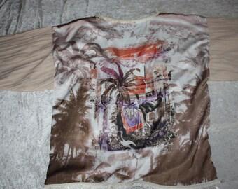 Kimono - sleeve - Africa - poncho - Cape - summer - cotton - elephants