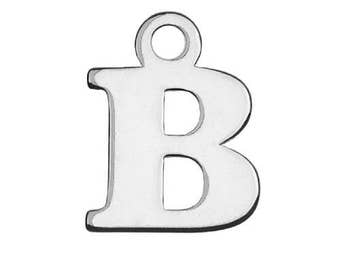 Charm Letter 'B' Sterling Silver 925