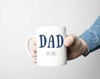 Dad established mugs, baby announcement, pregnancy announcement, dad established, father's Day gift, fathers day, dad, birthday, new dad mug