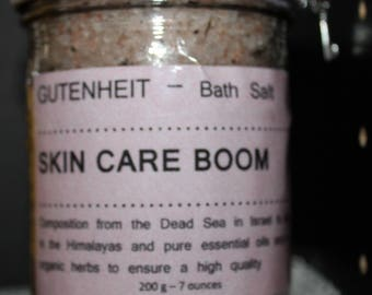 """Natural Bath Salts Aromatherapy White tea leaves  pure essential oils, Himalayan-Epson-Dead Sea Salt """"SKIN CARE-BOOM""""  Relaxing  Anti-Stress"""