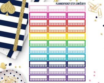 33 Stackable Habit Tracker Planner Stickers! SB111