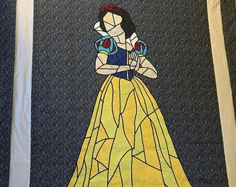 Snow White Stained Glass Quilt