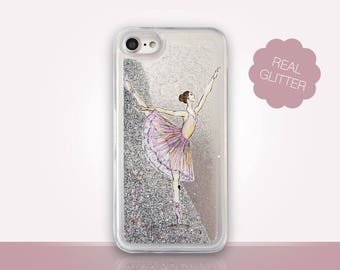 Ballet Glitter Phone Case Clear Case For iPhone 8 iPhone 8 Plus - iPhone X - iPhone 7 Plus - iPhone 6 - iPhone 6S - iPhone SE  iPhone 5