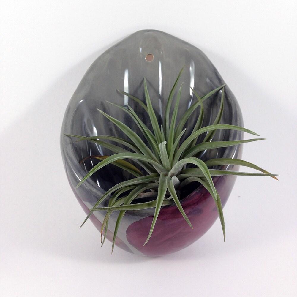 keramik pflanzschale wandschale blumentopf f r die wand. Black Bedroom Furniture Sets. Home Design Ideas