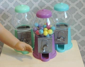 Polymer Clay Gumballs and Mini Gumball Machine for American Girl and other 18 inch dolls