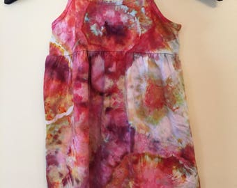 Ice Dyed Sundress, Girls Size 4, 100% cotton