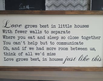 Little house sign Etsy