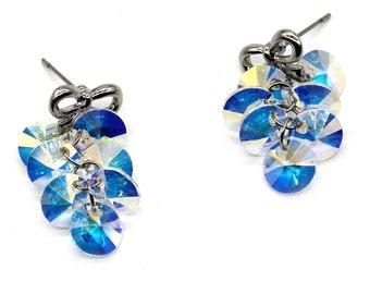 Lovely bow Swarovski crystal earrings